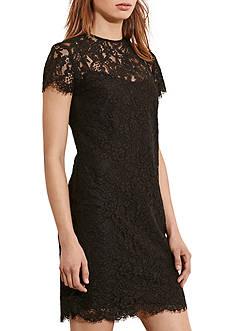 Lauren Ralph Lauren Lace Short-Sleeve Dress