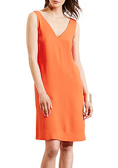 Lauren Ralph Lauren Crepe Sleeveless Shift Dress