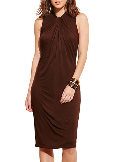 Lauren Ralph Lauren Twist-Neck Jersey Dress