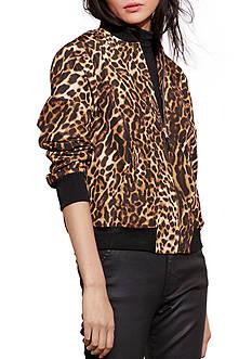 Lauren Ralph Lauren Ocelot-Print Bomber Jacket