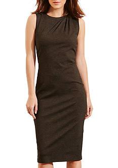 Lauren Ralph Lauren Pleated-Shoulder Ponte Dress