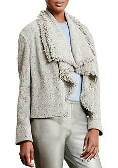 Lauren Ralph Lauren Fringed Wool-Blend Jacket