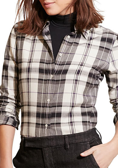 Lauren Ralph Lauren Plaid Cotton Twill Shirt