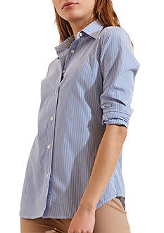 Lauren Ralph Lauren Striped Cotton Shirt