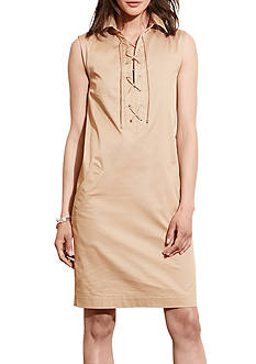 Lauren Ralph Lauren Lace-Up Shift Dress