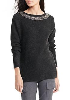 Lauren Ralph Lauren Beaded Wool-Cashmere Sweater