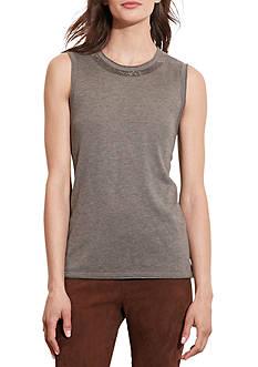 Lauren Ralph Lauren Beaded Silk-Blend Top