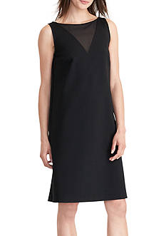 Lauren Ralph Lauren Georgette-Panel Ponte Dress