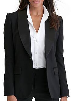 Lauren Ralph Lauren Silk-Trim Wool Jacket
