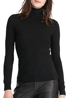 Lauren Ralph Lauren Stretch Silk Turtleneck