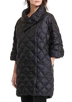 Lauren by Ralph Lauren Quilted Mockneck Down Jacket