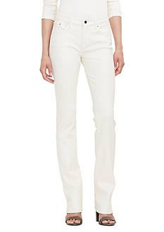 Lauren Ralph Lauren Coated Straight Jean