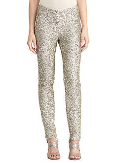 Lauren Ralph Lauren Sequined Skinny Pant