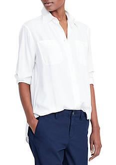 Lauren Ralph Lauren Button-Up Utility Shirt