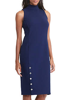 Lauren Ralph Lauren Buttoned Ponte Dress