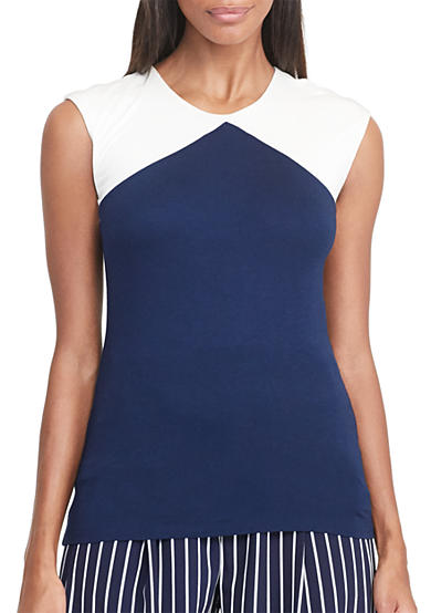 Lauren Ralph Lauren Color-Blocked Jersey Top