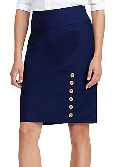 Lauren Ralph Lauren Buttoned Pencil Skirt