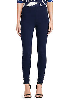 Lauren Ralph Lauren Lace-Up Ponte Legging