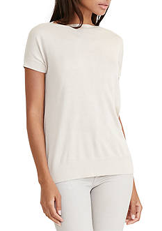 Lauren Ralph Lauren Silk-Blend Cap-Sleeve Sweater