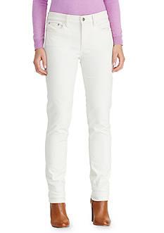 Lauren Ralph Lauren Premier Straight Corduroy Pant