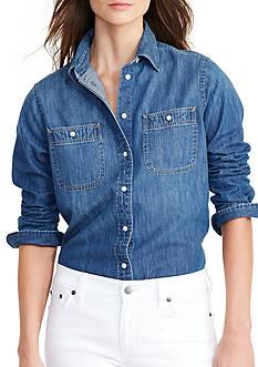 Lauren Ralph Lauren Denim Utility Shirt
