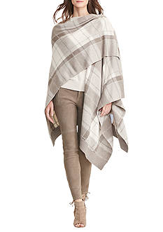 Lauren Ralph Lauren Plaid Wool-Blend Poncho