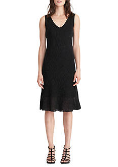 Lauren Ralph Lauren Geometric Ruffled Knit Dress