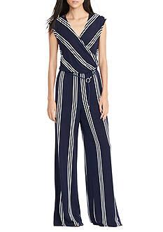 Lauren by Ralph Lauren Striped Jersey Jumpsuit