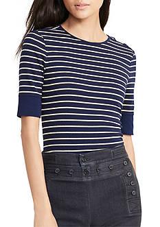 Lauren Ralph Lauren Striped Lace-Up Top