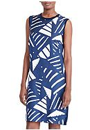 Lauren by Ralph Lauren Printed-Front Sweater Dress