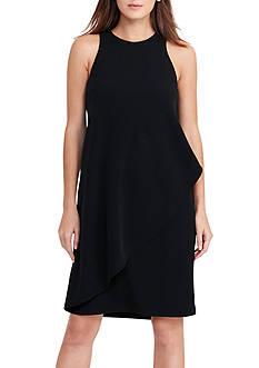 Lauren Ralph Lauren Front-Overlay Crepe Dress