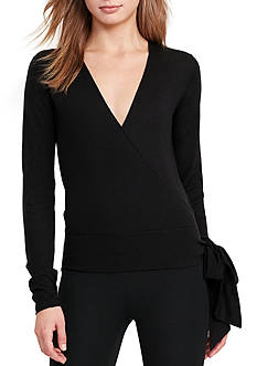 Lauren Ralph Lauren Silk-Blend Wrap Sweater