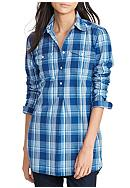 Lauren Ralph Lauren Plaid Cotton Tunic