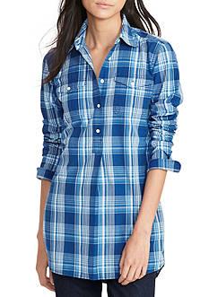 Lauren Ralph Lauren Plaid Cotton Tunic