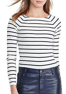 Lauren Ralph Lauren Striped Stretch Cotton Top