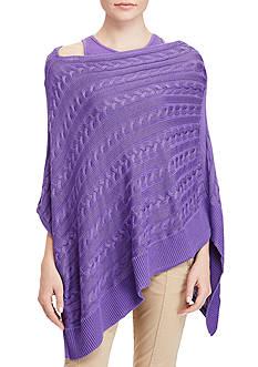 Lauren Ralph Lauren Cable-Knit Poncho