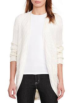 Lauren Ralph Lauren Cable-Knit Open-Front Cardigan