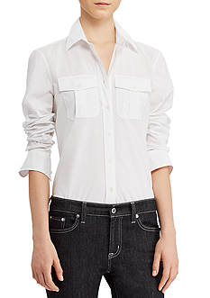 Lauren Ralph Lauren Cotton Broadcloth Shirt