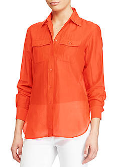 Lauren Ralph Lauren Cotton-Silk Voile Shirt