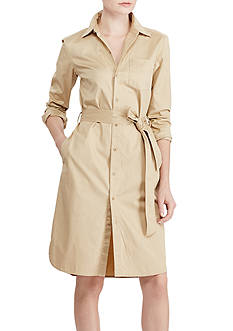 Lauren Ralph Lauren Cotton Twill Shirtdress