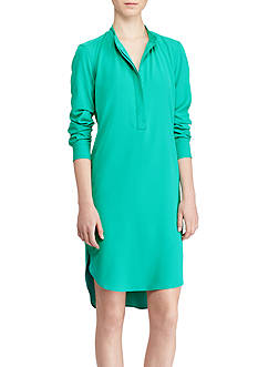 Lauren Ralph Lauren Crepe de Chine Shirtdress