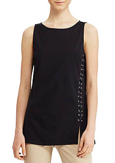 Lauren Ralph Lauren Lace-Up Ponte Tank