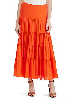 Lauren Ralph Lauren Cotton Gauze Maxiskirt