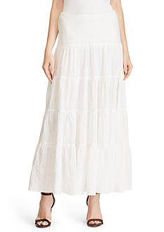 Lauren Ralph Lauren Tiered Cotton Maxiskirt
