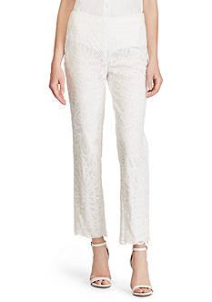 Lauren Ralph Lauren Floral Lace Straight Pant