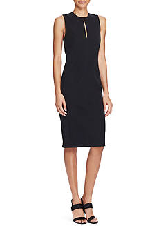 Lauren Ralph Lauren Stretch Twill Sheath Dress