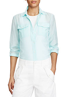 Lauren Ralph Lauren Cotton-Silk Shirt