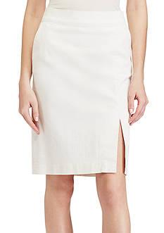 Lauren Ralph Lauren Denim Pencil Skirt