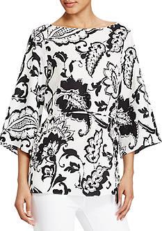Lauren Ralph Lauren Paisley-Print Crepe Tunic Top