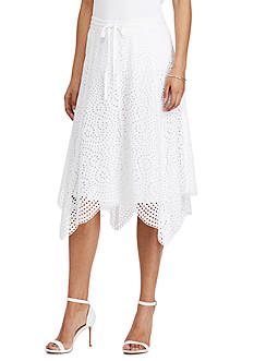 Lauren Ralph Lauren Handkerchief-Hem Midi Skirt